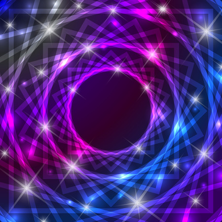 Shiny magical symbol background with glittering effect Illustration