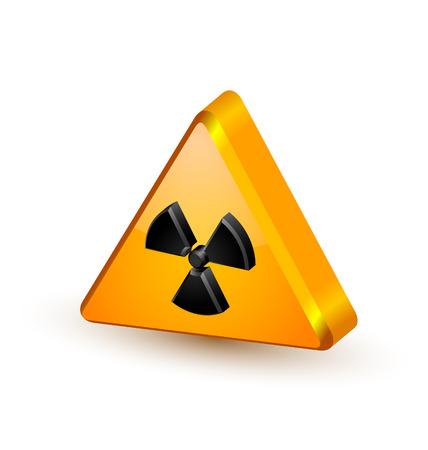 Nuclear symbol isolated on white background Illustration
