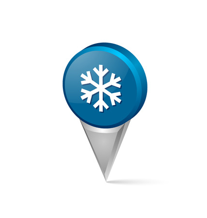Winter snowflake pointer isolated on white background Vector