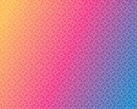 a pink cell: Abstract cell shaped pattern on colorful background