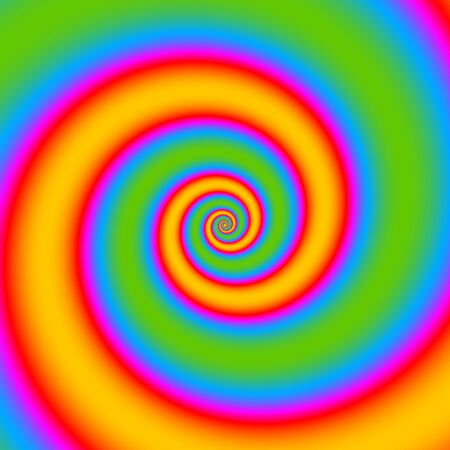 to revolve: Colorful twisted spiral convolution object on background