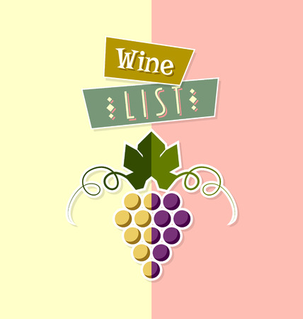 clump: Wine list cover template in simple retro style Illustration