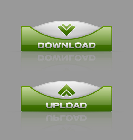 command button: Glossy download and upload buttons useful for webdesign purposes
