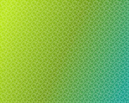 plant cell: Abstract plant cell shaped pattern on green background Illustration