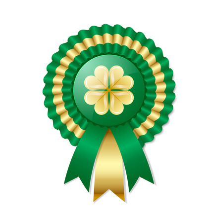 award ribbon rosette: Saint Patricks Day Irish rosette Illustration