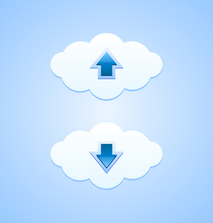 webdesign: Up and down clouds useful for webdesign purposes