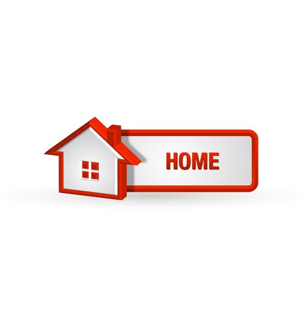 proprietary: House icon and button on white background