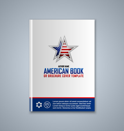 Brochure or book cover template on grey background