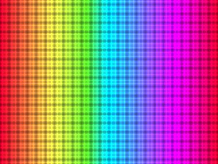 arc en ciel: Résumé motif quadrangulaire placé sur fond coloré Illustration