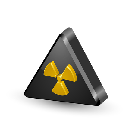 Nuclear symbol isolated on white background Illustration
