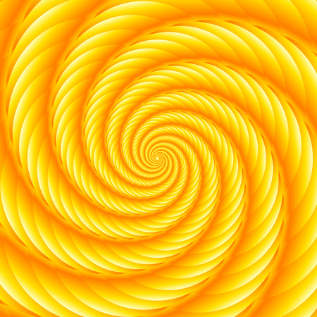 ribbed: Yellow twisted and ribbed spiral object with background
