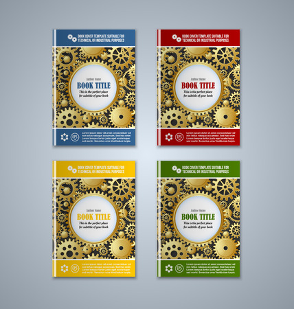 subtitle: Brochure or book cover templates on grey background