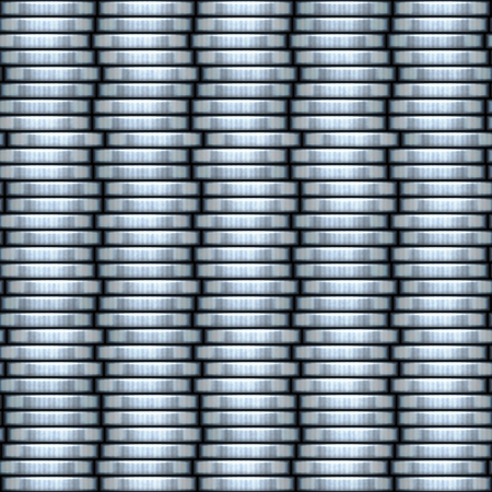 Silver coin stacks seamless mosaic texture illustration illustration