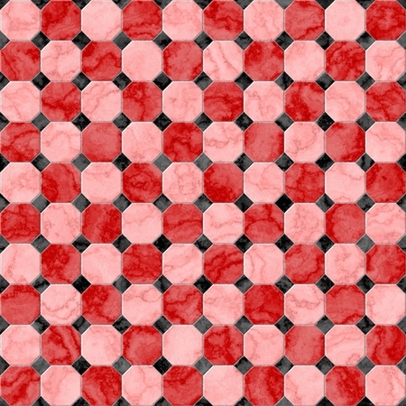 geometric style: Cubic seamless mosaic tile texture in geometric style
