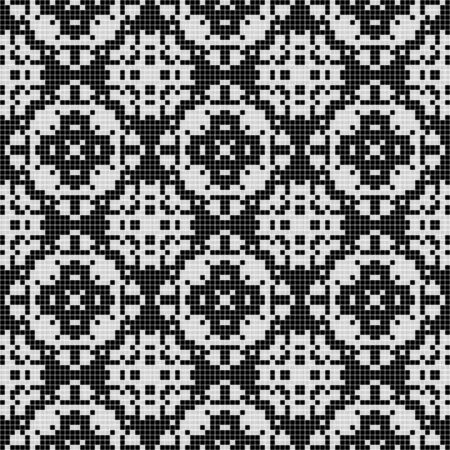 cubic: Cubic seamless curtain tile texture in geometric style