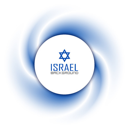 israeli: Israeli badge on twisted blue and white background