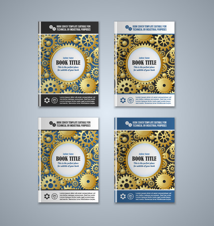 Brochure or book cover templates on grey background