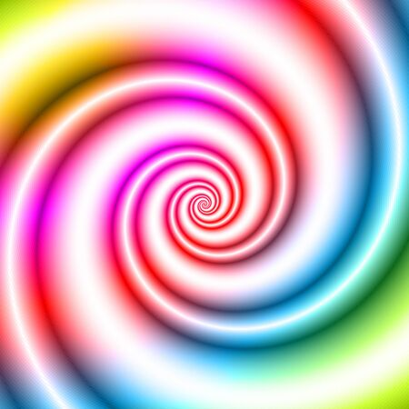 turn yellow: Colorful twisted spiral convolution object on background