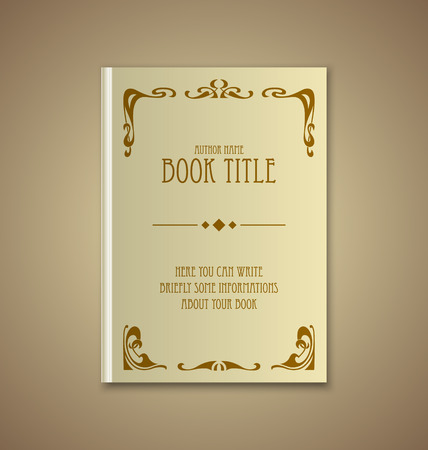 secession: Brochure or book cover template on sepia background