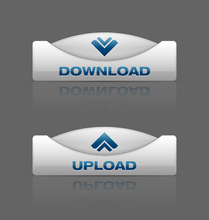 webdesign: Glossy download and upload buttons useful for webdesign purposes