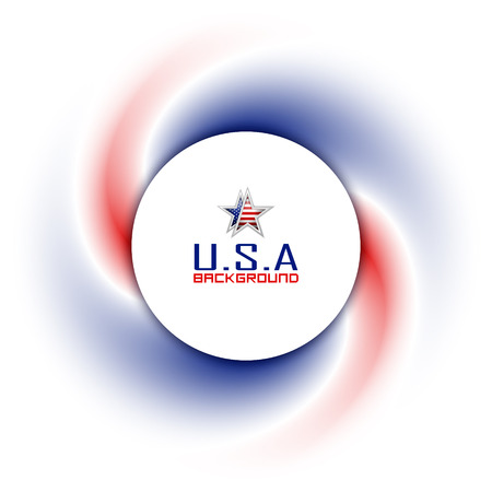twisted: American badge on twisted red blue and white background Illustration