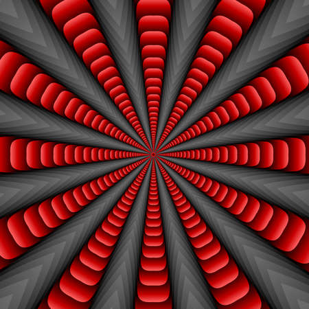 ribbed: Red twisted and ribbed abstract flower background