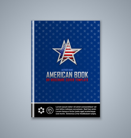 subtitle: Brochure or book cover template on grey background