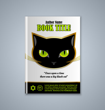 face book: Brochure or book cover template on grey background