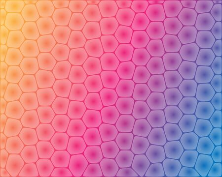 blue tooth: Abstract cell shaped pattern on colorful background