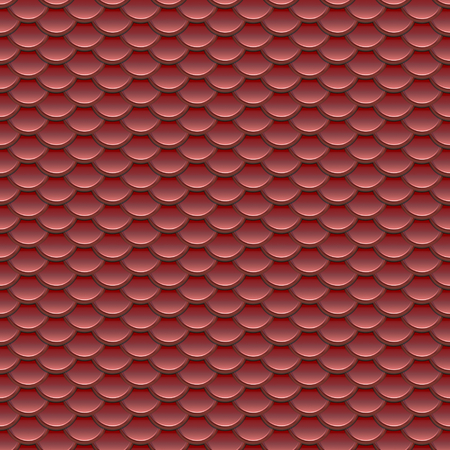 fluted: Seamless red fish scale armor pattern in abstract style