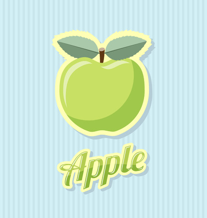 rind: Retro apple with title on striped background