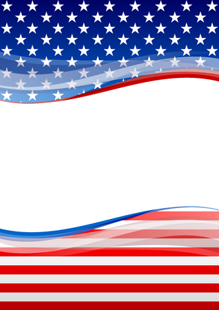 patriotic: American starry background with stars and stripes Illustration