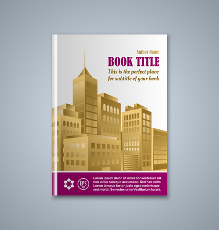 burg: Brochure or book cover template on grey background