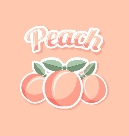 peach: Retro peach with title on pink background