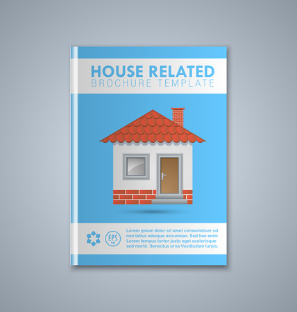 doorstep: Brochure or book cover template on grey background