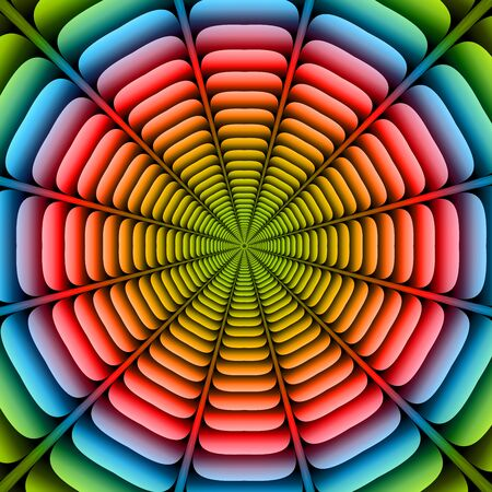 ribbed: Colorful twisted and ribbed abstract flower background Illustration