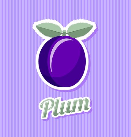 flesh colour: Retro plum with title on striped background Illustration