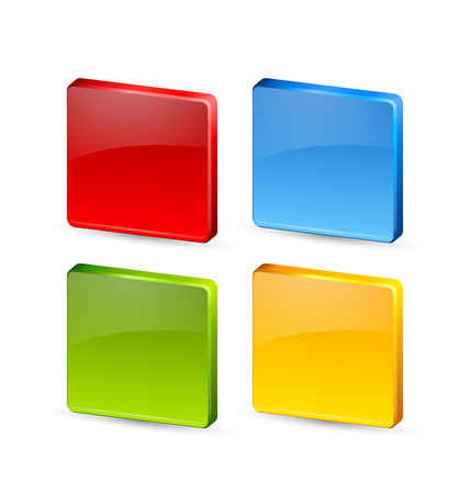 plaque: Colorful icon or button backgrounds suitable for custom design Illustration