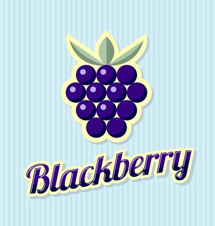 blackberry: Retro blackberry with title on striped background