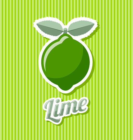 rind: Retro lime with title on striped background