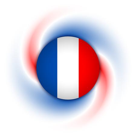 frances: Insignia francés el trenzado fondo azul, blanco y rojo