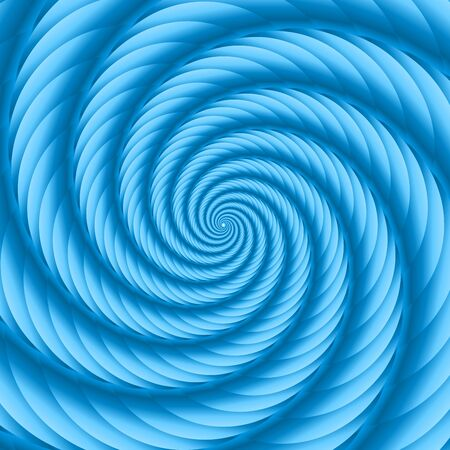 ribbed: Blue twisted and ribbed spiral object with background