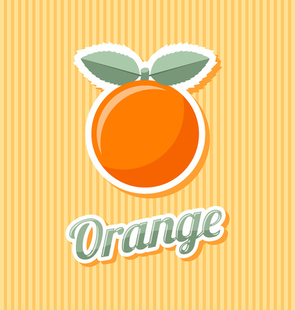 peel: Retro orange with title on striped background