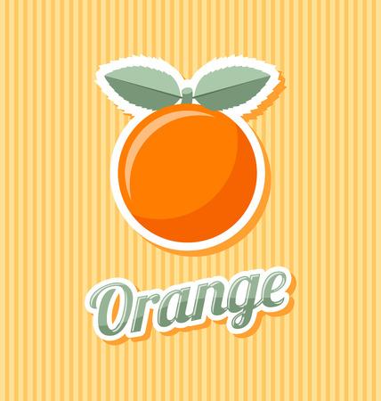 zest: Retro orange with title on striped background