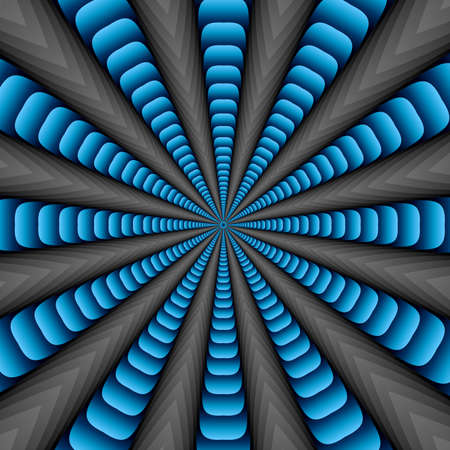 to revolve: Blue twisted and ribbed abstract flower background