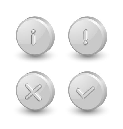 proclamation: Notification icons suitable for custom web design and computer purposes