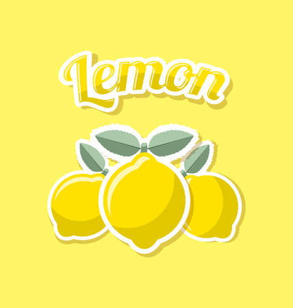 rind: Retro lemon with title on yellow background