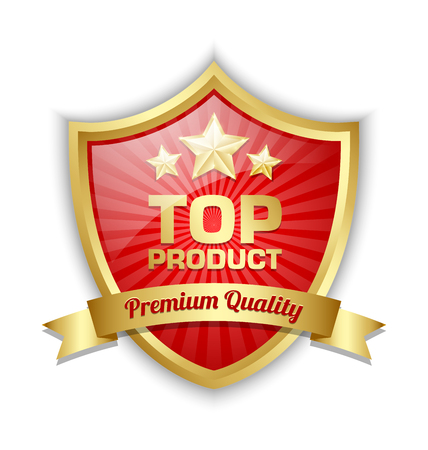 Top product shield placed on white background  イラスト・ベクター素材