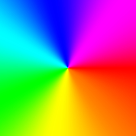 Colorful radial gradient background made of rainbow spectral colors
