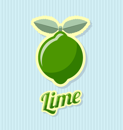 zest: Retro lime with title on striped background